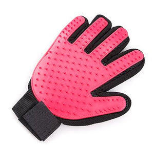 Silicone Grooming Glove Lovin Little Greys - Red / Right Hand