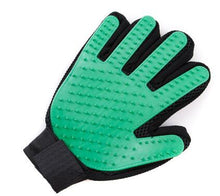 Load image into Gallery viewer, Silicone Grooming Glove Lovin Little Greys - Green / Right Hand