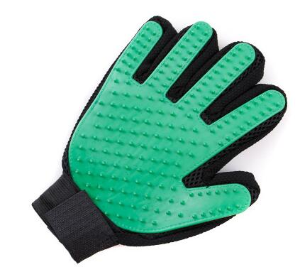 Silicone Grooming Glove Lovin Little Greys - Green / Right Hand