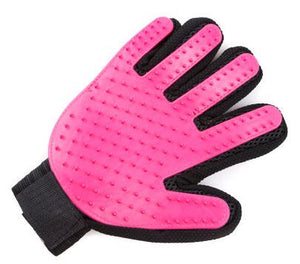 Silicone Grooming Glove Lovin Little Greys - Rose / Right Hand