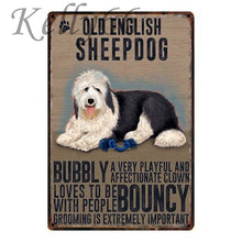 Load image into Gallery viewer, Metal Dog Plaque Lovin Little Greys - 20X30 / Old English Sheep Dog