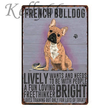 Load image into Gallery viewer, Metal Dog Plaque Lovin Little Greys - 20X30 / French Bulldog
