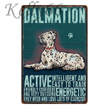 Load image into Gallery viewer, Metal Dog Plaque Lovin Little Greys - 20X30 / Dalmatian