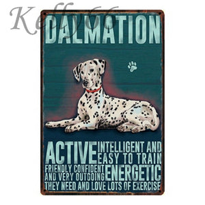 Metal Dog Plaque Lovin Little Greys - 20X30 / Dalmatian