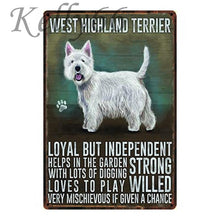 Load image into Gallery viewer, Metal Dog Plaque Lovin Little Greys - 20X30 / West Highland Terrier