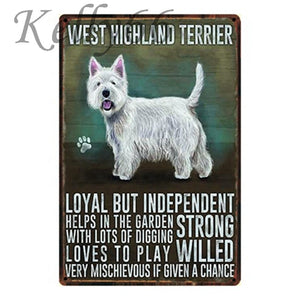 Metal Dog Plaque Lovin Little Greys - 20X30 / West Highland Terrier
