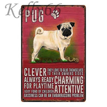 Load image into Gallery viewer, Metal Dog Plaque Lovin Little Greys - 20X30 / Pug