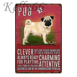 Metal Dog Plaque Lovin Little Greys - 20X30 / Pug