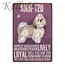 Load image into Gallery viewer, Metal Dog Plaque Lovin Little Greys - 20X30 / Shih-Tzu