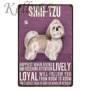 Metal Dog Plaque Lovin Little Greys - 20X30 / Shih-Tzu