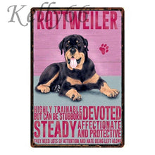 Load image into Gallery viewer, Metal Dog Plaque Lovin Little Greys - 20X30 / Rottweiler
