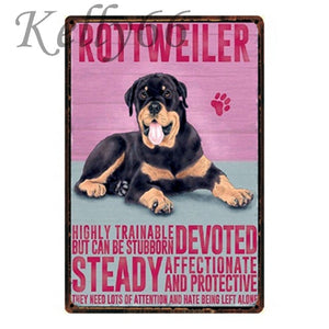 Metal Dog Plaque Lovin Little Greys - 20X30 / Rottweiler