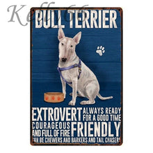 Load image into Gallery viewer, Metal Dog Plaque Lovin Little Greys - 20X30 / Bull Terrier