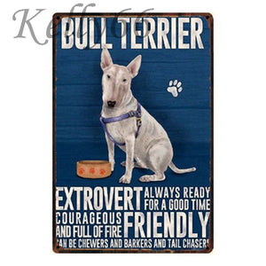 Metal Dog Plaque Lovin Little Greys - 20X30 / Bull Terrier
