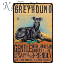 Load image into Gallery viewer, Metal Dog Plaque Lovin Little Greys - 20X30 / Greyhound