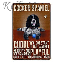 Load image into Gallery viewer, Metal Dog Plaque Lovin Little Greys - 20X30 / Cocker Spaniel