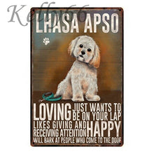 Load image into Gallery viewer, Metal Dog Plaque Lovin Little Greys - 20X30 / Llasa Apso