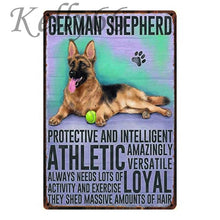 Load image into Gallery viewer, Metal Dog Plaque Lovin Little Greys - 20X30 / German Shepherd