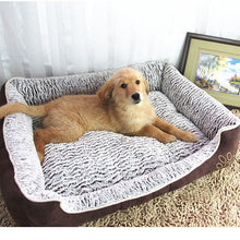 Load image into Gallery viewer, Large Plush Dog Bed with Detachable Cushion Lovin Little Greys -