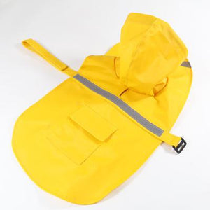 Reflective Pet Raincoat Lovin Little Greys - Yellow / M