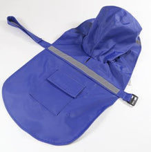 Load image into Gallery viewer, Reflective Pet Raincoat Lovin Little Greys - Blue / M
