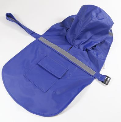 Reflective Pet Raincoat Lovin Little Greys - Blue / M