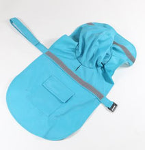Load image into Gallery viewer, Reflective Pet Raincoat Lovin Little Greys - Sky Blue / M