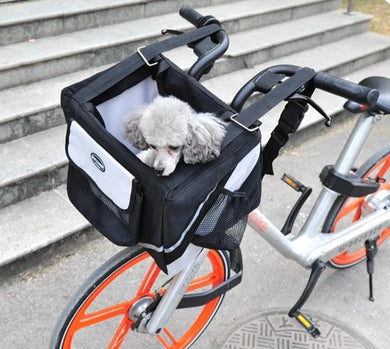 Luxury Bicycle Pet Carrier Basket Lovin Little Greys -