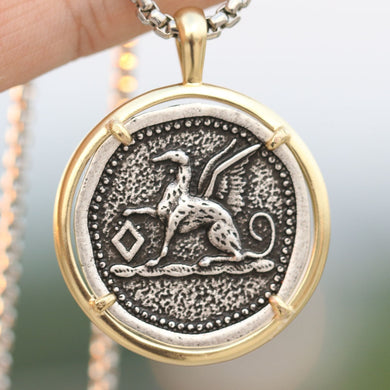 Vintage Greyhound Memorial Pendant Necklace Lovin Little Greys -