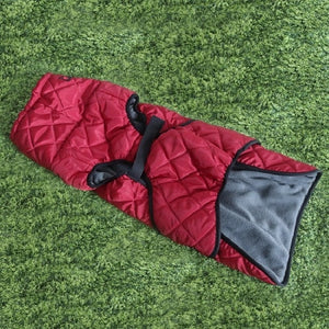 Warm Weatherproof Dog Jacket Lovin Little Greys - Red / L