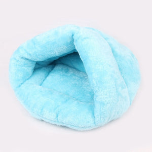 Pet Cave Sleeping Bag Bed Lovin Little Greys - Blue / L