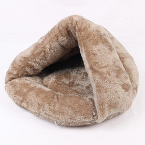 Pet Cave Sleeping Bag Bed Lovin Little Greys - Coffee / L