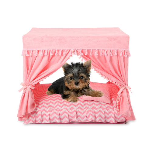 Luxury Princess Pet Home Lovin Little Greys - Pink / S