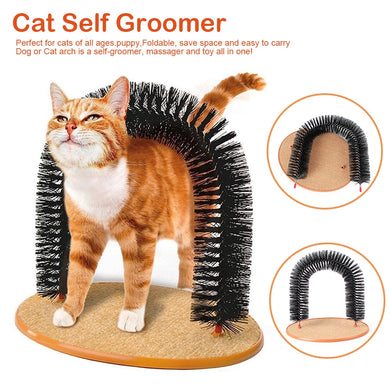 Self Groomer, Back Scratching Brush for Cats Lovin Little Greys -