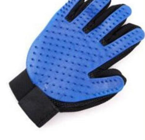 Silicone Grooming Glove Lovin Little Greys - Blue / Right Hand