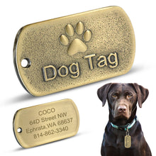 Load image into Gallery viewer, Personalised Stainless Steel Dog ID Tag Lovin Little Greys -