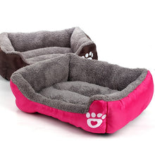 Load image into Gallery viewer, Nest Bed - soft fleece for Dog and Cat Lovin Little Greys - rose / S