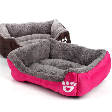 Nest Bed - soft fleece for Dog and Cat Lovin Little Greys - rose / S
