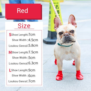Rubber Rain Boots for Dogs & Cats Lovin Little Greys - Red / S