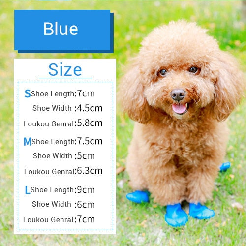 Rubber Rain Boots for Dogs & Cats Lovin Little Greys - Blue / S