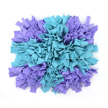 Load image into Gallery viewer, Pet Snuffle Puzzle Mat Lovin Little Greys - Blue purple cross / 45cm x 45cm