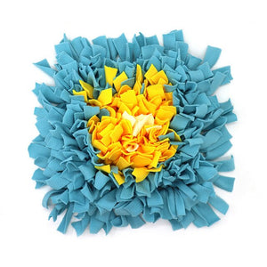 Pet Snuffle Puzzle Mat Lovin Little Greys - Blue yellow flower / 45cm x 45cm