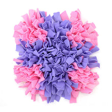 Load image into Gallery viewer, Pet Snuffle Puzzle Mat Lovin Little Greys - Pink purple cross / 45cm x 45cm