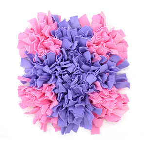 Pet Snuffle Puzzle Mat Lovin Little Greys - Pink purple cross / 45cm x 45cm