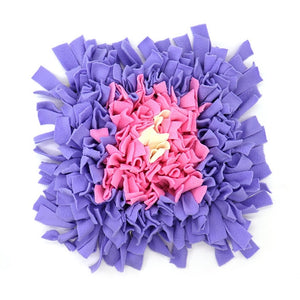 Pet Snuffle Puzzle Mat Lovin Little Greys - Pink purple bud / 45cm x 45cm