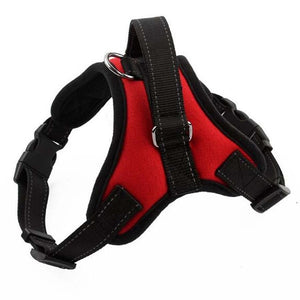 Reflective K9 Adjustable Dog Harness Lovin Little Greys - Red / L
