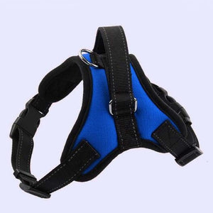 Reflective K9 Adjustable Dog Harness Lovin Little Greys - Blue / L