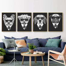 Load image into Gallery viewer, Posters - Black/White Dogs With Sunglasses Lovin Little Greys -