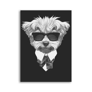 Posters - Black/White Dogs With Sunglasses Lovin Little Greys - 21x30cm No Frame / Terrier
