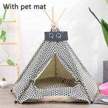 Load image into Gallery viewer, Teepee Dog Bed Lovin Little Greys - With petmat / S: 40x40x50cm